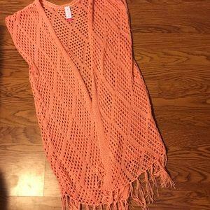 Tops - Crochet top with fringe